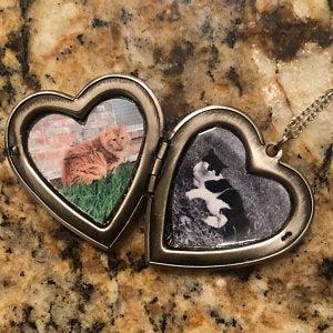 Silver Heart Locket - Choose 0-2 Photos photo review