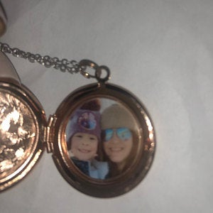 Antique Silver, Rose Gold and Gold Locket - Choose 0-2 Photos photo review